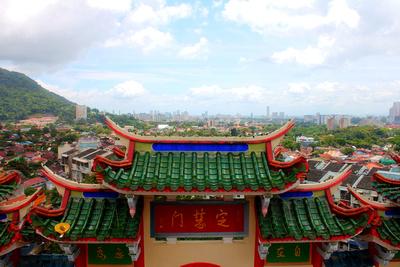 View of Penang from Kek Lok Si temple