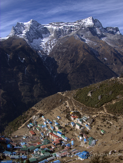 Namche Bazzar from above