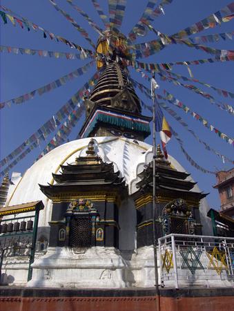 Stupa in downtown Kathmandu