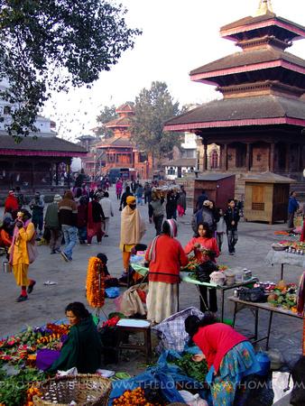 Morning scene from Kathmandu Durbar Square Nepal