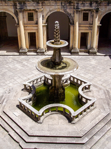Fountain of legends in Portugal
