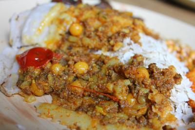 Chataamari rice pizza: traditional Nepalese food