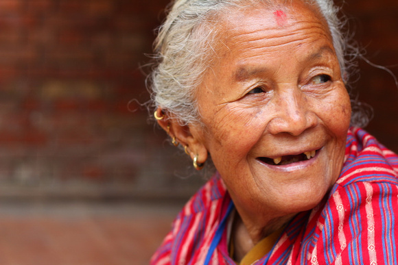 Nepali lady laughing