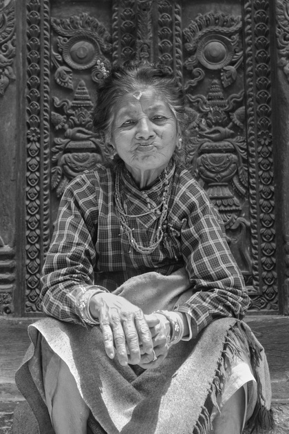 Old lady from Bhaktapur
