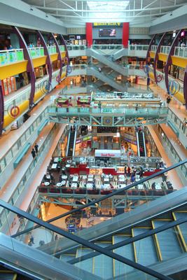 Inside a typical Singaporean mall