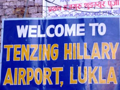 Tenzeng / Hillary Lukla Airport Sign