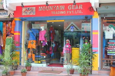 Trekking store in Nepal