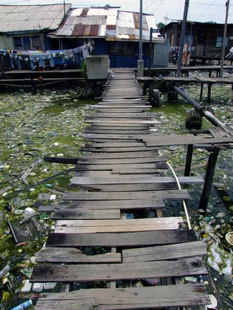 Wooden walkway in Kota Kinabalu