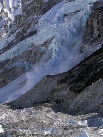 Avalanche by Everest Base Camp Nepal