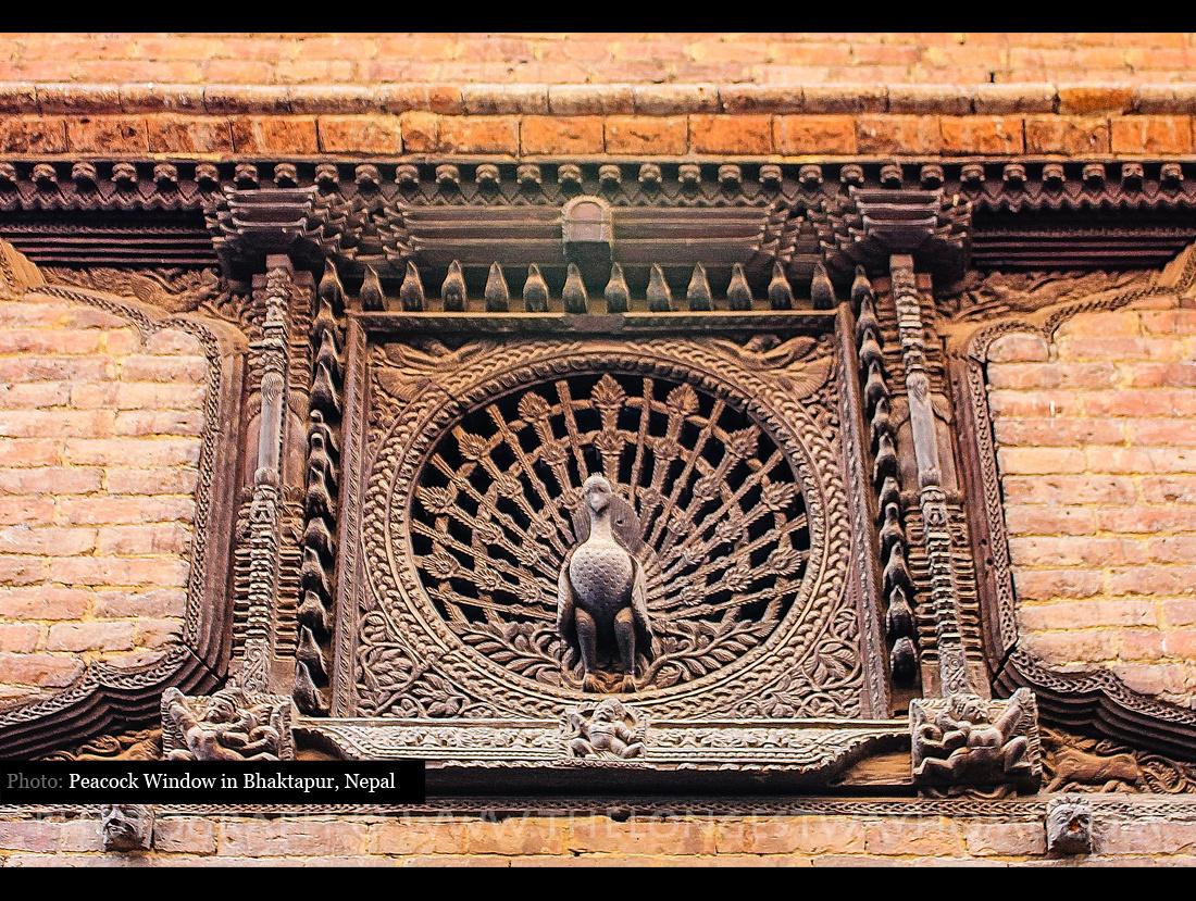 Peacock Window in Bhaktapur Nepal