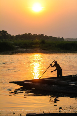 Sunset on Rapti river Chitwan