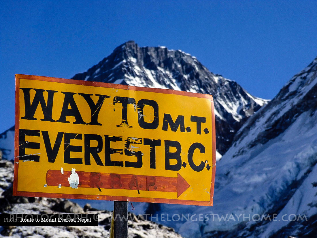 Way to Everest Base Camp Sign
