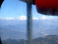 View from Lukla airplane window