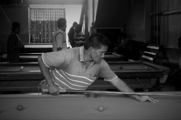 Playing Billiards in Beaufort Borneo
