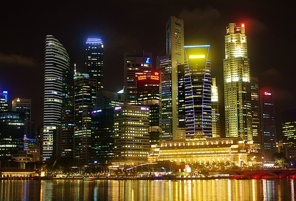 Singapore's City Sky Line at Night - a very different slice of South East Asia