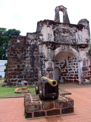 Old Portuguese fort in Malacca