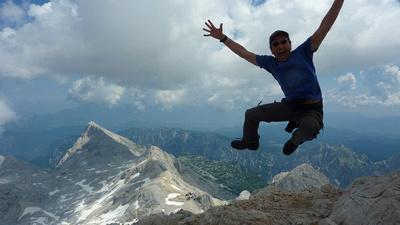 Francis on Triglav, Slovenia's Tallest Mountain