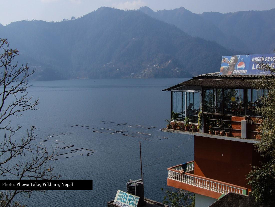 Overlooking Lake Phewa Tal, Pokhara