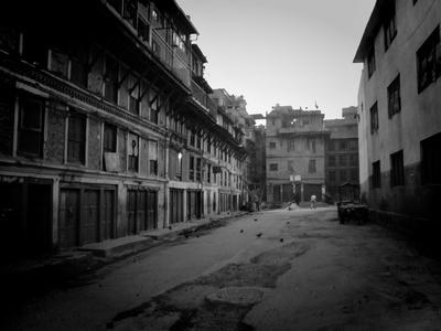 Empty street in Kathmandu