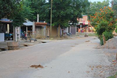 Empty Sauraha street in Chitwan