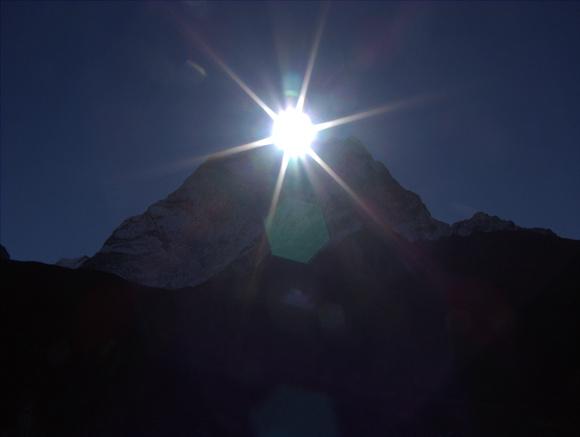 Sun over the Himalayas