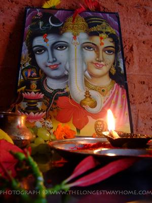 Shivaratri is a celebration for the Hindu Deity Shiva