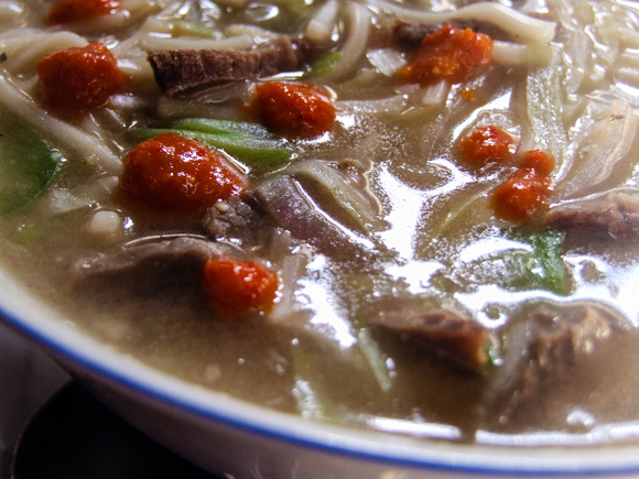 Thukpa (Nepalese noodle soup)