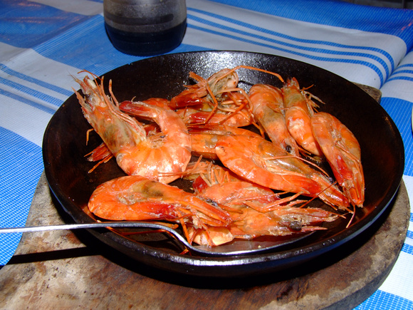 Sizzling Prawns in the Philippines (click to enlarge)
