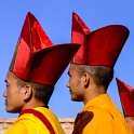 Tibetan Monks in Red & Yellow - Nepal
