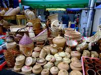 Weaved Baskets on Gaya street Market