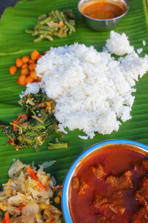 Banana Leaf rice from Malaysia