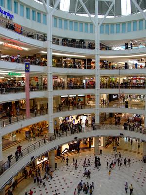 Shopping floors at Suria KLCC at Petronas towers in Kuala Lumpur, Malaysia