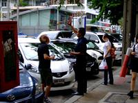 Pickpocket at work in Bangkok