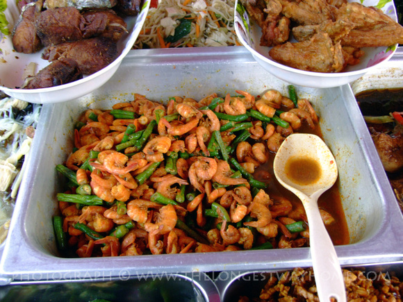 Prawns and Green beans from Sabah, Malaysia