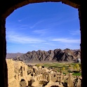 Looking out a mud city window - Iran