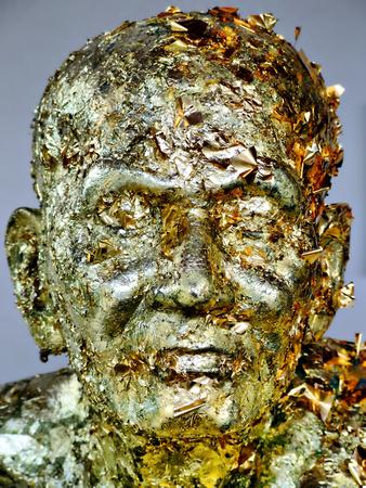 Golden Monk head from Bangkok Thailand