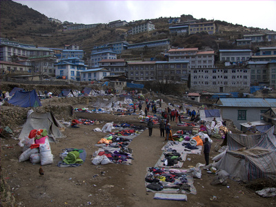 Namche Bazzar market, not quite what you might expect ...