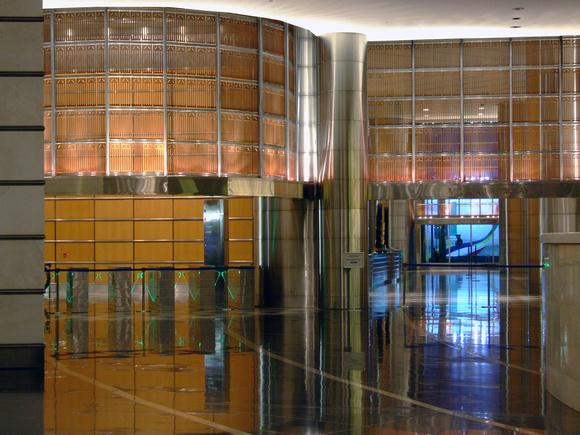 Inside the Petronas towers at night