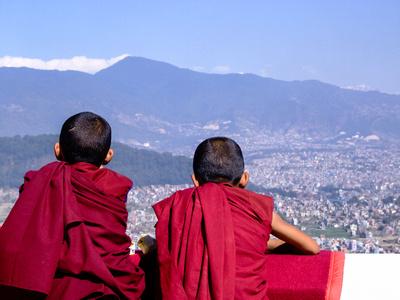 Young monks in Kathmandu