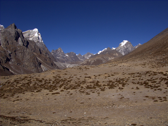 Open space on the Everest Base Camp trek