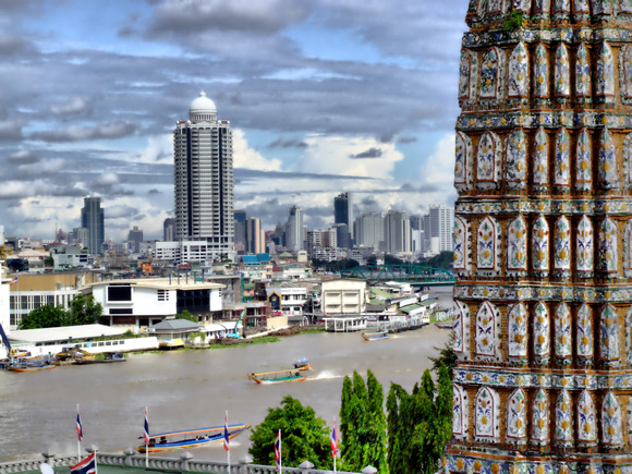 Bangkok city from a temple HDR