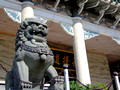 Statue of a lion in the Shaolin Temple in Davao