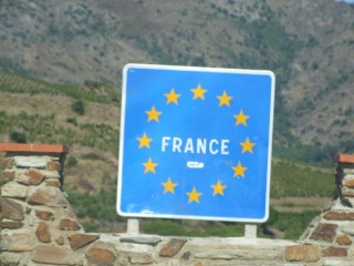 French Border Sign