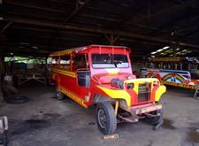 Newly painted Filippino Jeepney