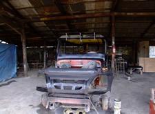 Filippino Jeepney waiting for engine