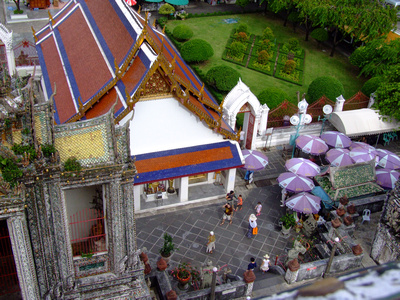 Looking down from the top of Wat Arun