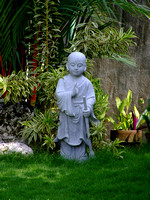 Statue of small Buddist Lhama in Davao City