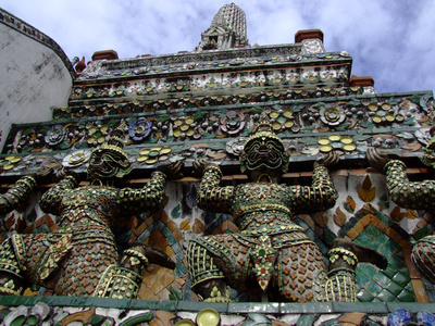 Steep climb up Wat Arun's towers
