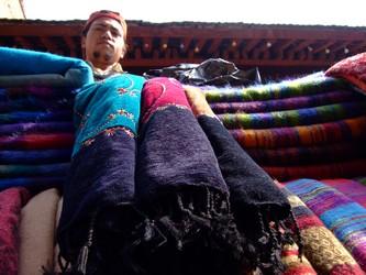Silk Scarf Stall, Kathmandu