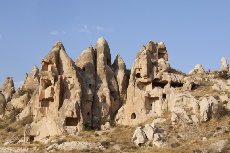 Cave Houses in Gorme, Cappadocia, Turkey (click to enlarge)